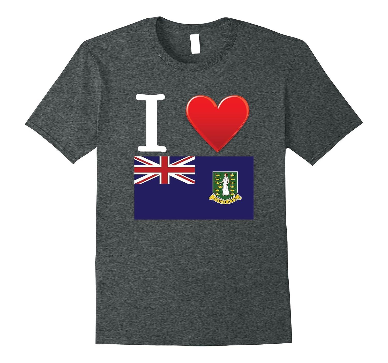 I Heart Love Virgin Islands UK Flag T-Shirt