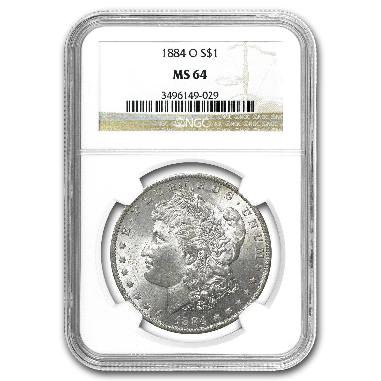 NGC MS64 1884-O US Morgan Silver Dollar $1
