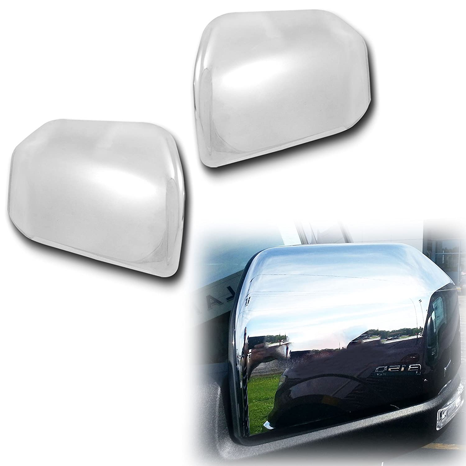 15-17 Ford F150 Triple Chrome Plated Top Half Towing Mirror Cover 1 Pair 2017