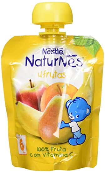 Nestlé Naturnes - Bolsitas de 4 Frutas - A Partir de 6 Meses - Pack de