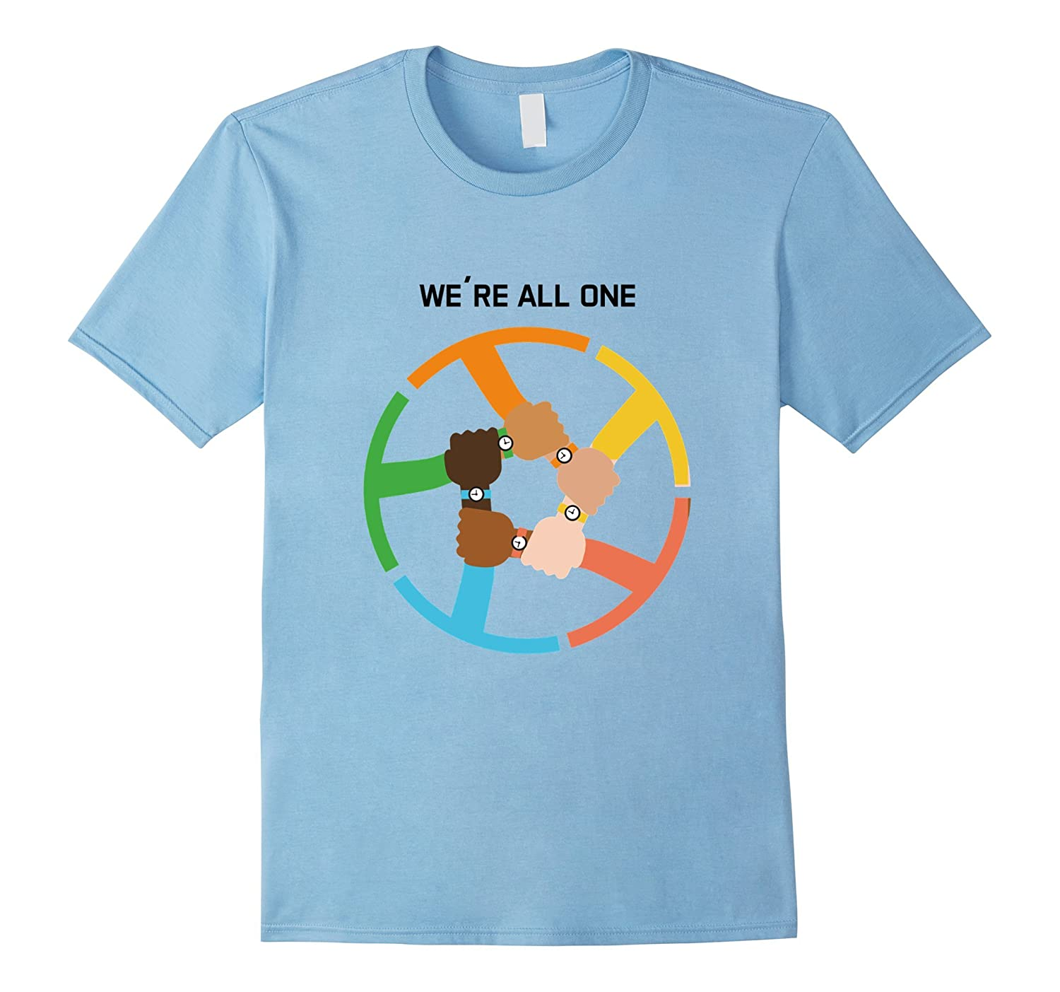 Anti Racism T-Shirt Were All One Join Hands Together-CD