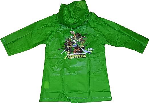 Ninja Turtles TMNT Boys Raincoat (Large 5-6) Green