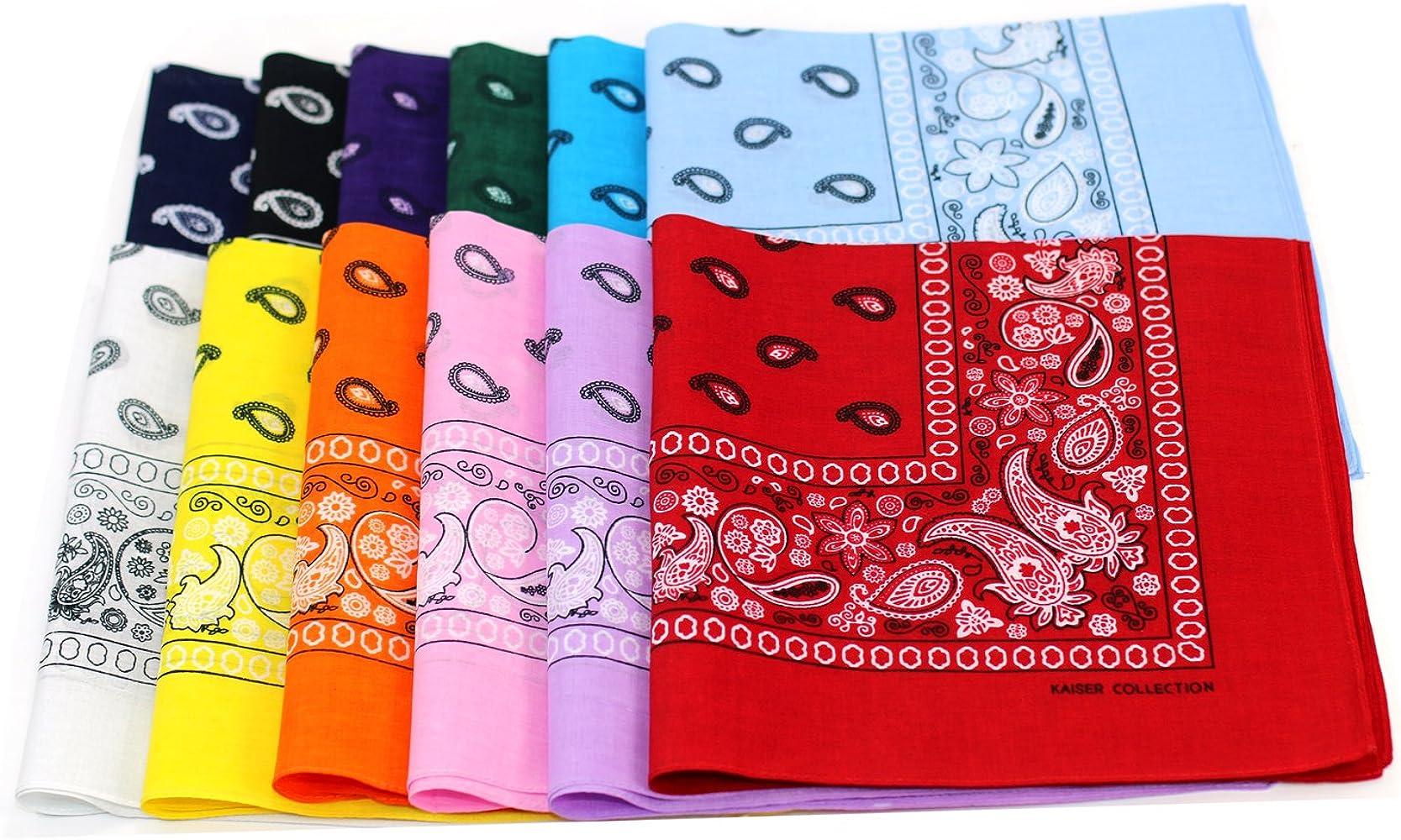 Cotton Bandana Hair Wrap Headband Double Sided Head Colors 22 Wrap Scarf