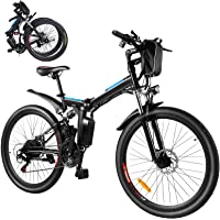 Bicicleta eléctrica eléctrica, bicicleta eléctrica plegable de 26 pulgadas, 250 W, con batería extraíble de 8 Ah…