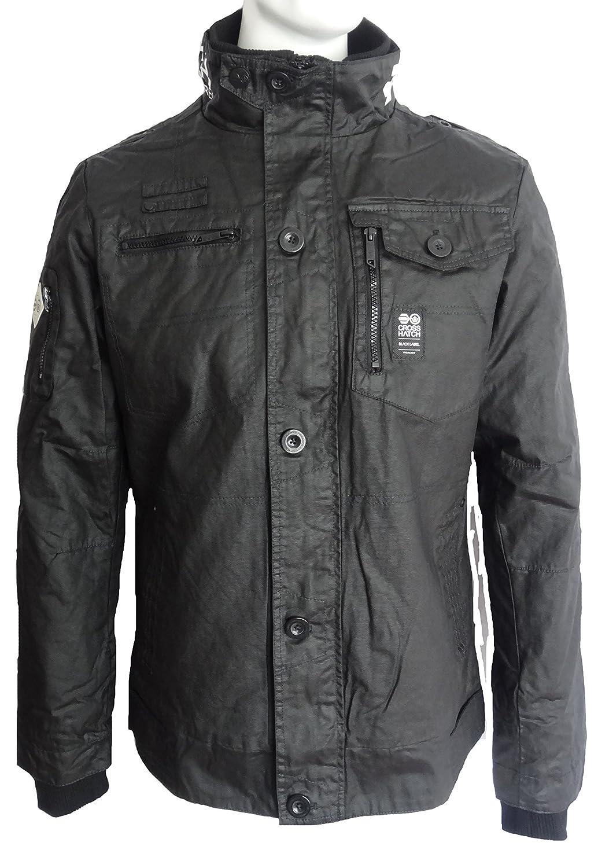 Mens Jacket Coat Crosshatch Zip Lined Casual Padded Winter Jacket New