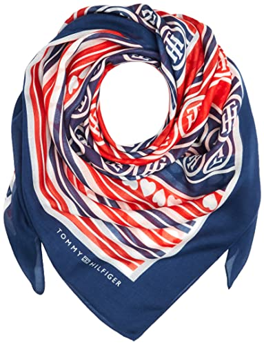 Tommy Hilfiger Stripes & Hearts Scarf, Polo para Mujer