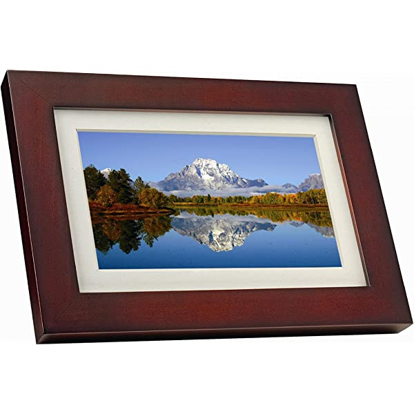 GiiNii SPF3483//G7 8 Digital Picture Frames Brown//Black with White Mat