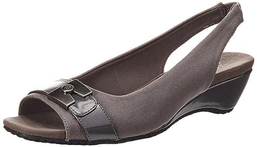 Anne Klein Helanna Slingback Sandals Pewter 7.5 M