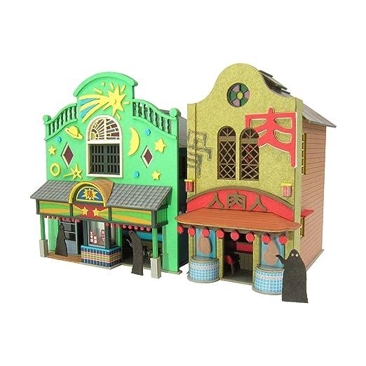 さんけい みにちゅあーとキット スタジオジブリシリーズ 千と千尋の神隠し 不思議の町,1 1/150スケール ペーパークラフト MK07,04