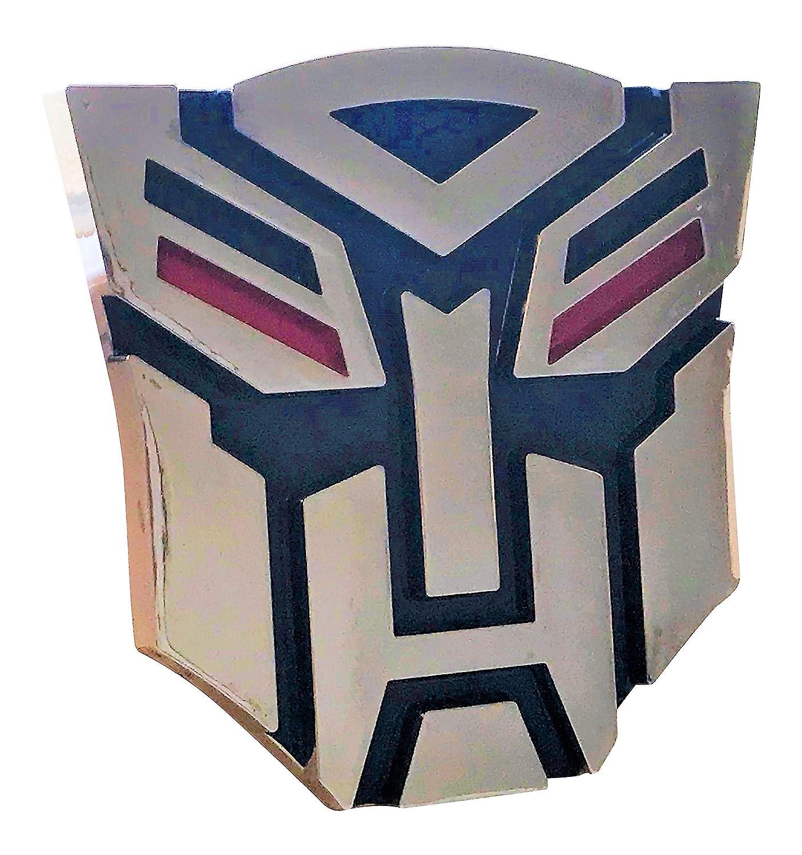 Transformers Autobot Chrome Red /& Blue Emblem 4 Tall GUANGZHOU TEAIMEI CAR ACCESSORIES CO
