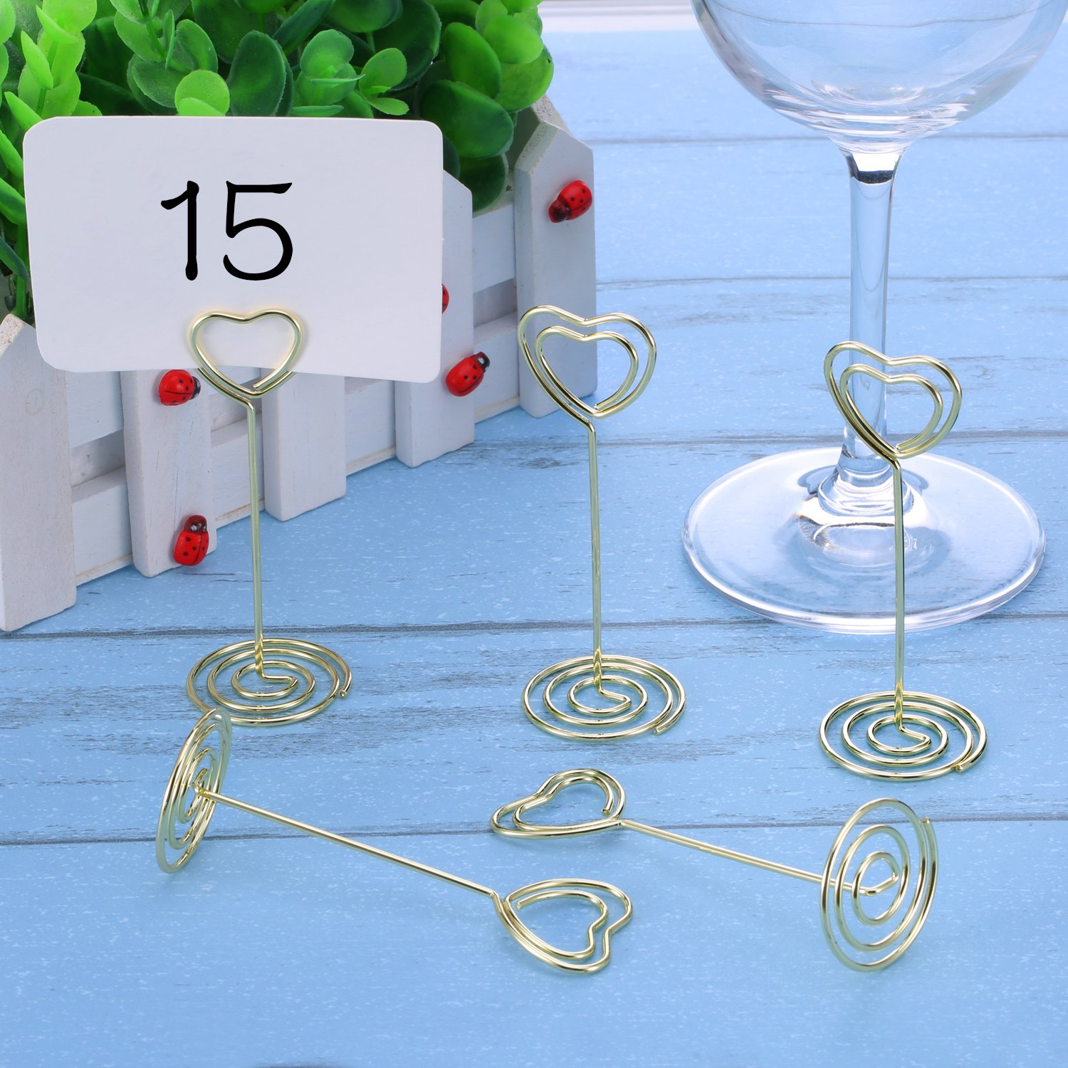 Amazon.com: Shappy 24 Pack of Table Number Card Holders Photo Holder ...