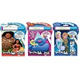 Bundle of 3 Imagine Ink Magic Pictures Activity Books - Moana, Trolls & Frozen
