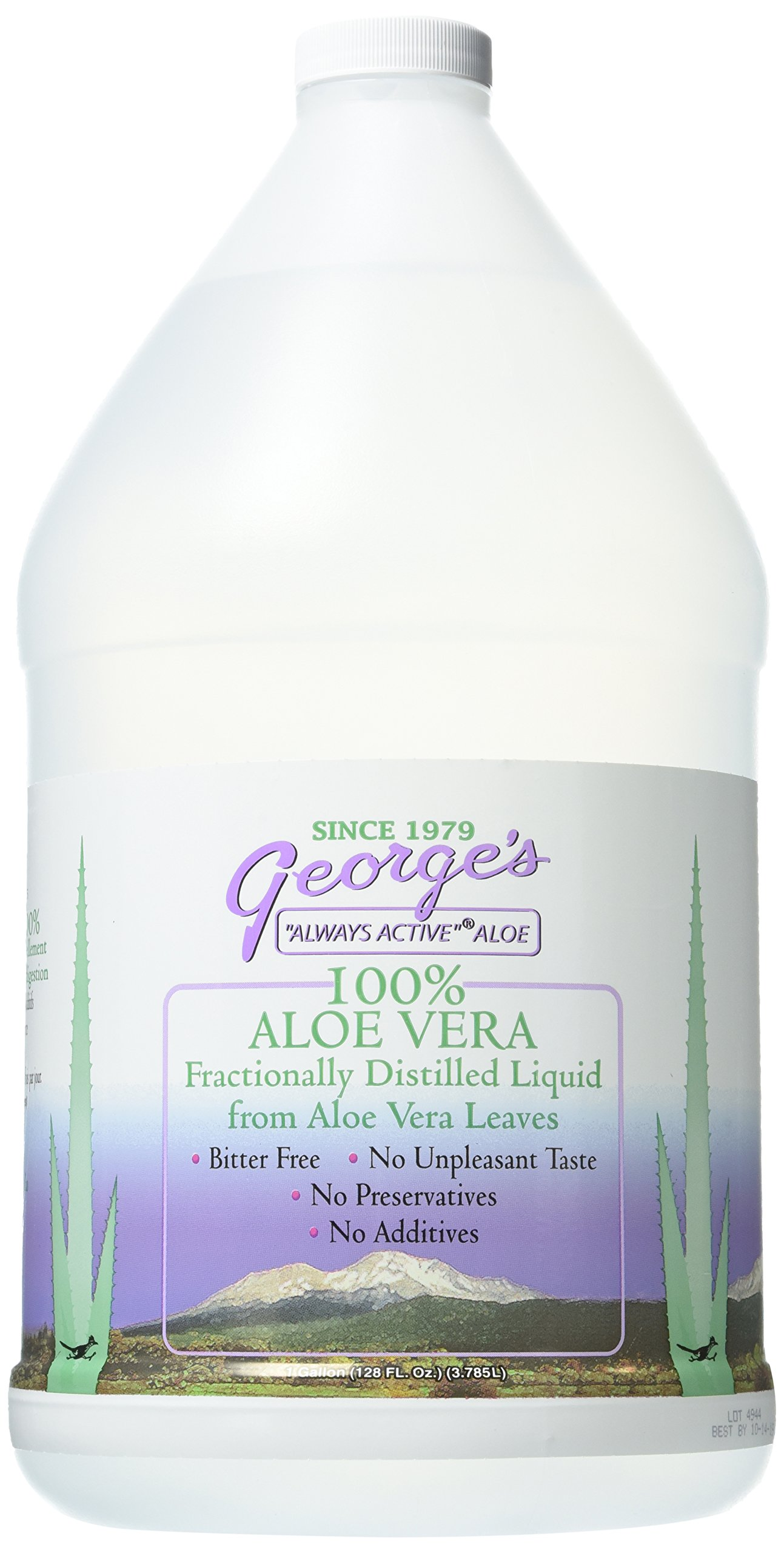 George's Aloe Vera Supplement, 128 Fl Oz (Pack of 1) by George's