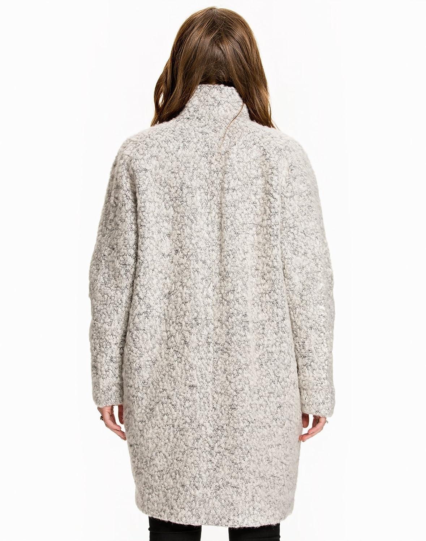 Samsøe Samsøe - Hoff Jacket mujer Sand Grey Taille Large 48% lana y 52% poliéster. forro 55% poliéster y 45% viscosa.: Amazon.es: Ropa y accesorios