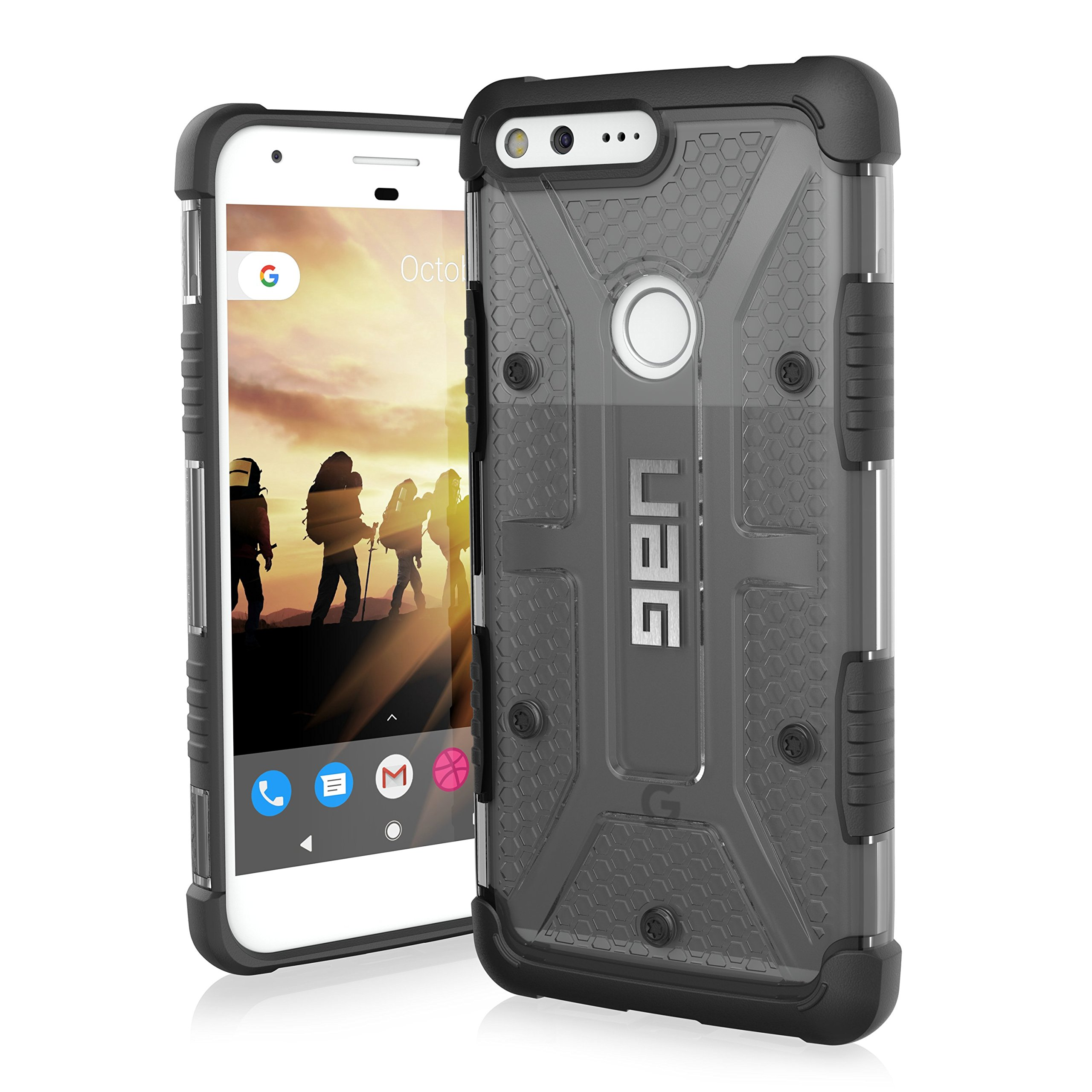 UAG Google Pixel XL [5.5-inch screen] Plasma Feather-Light Rugged [ASH] Military Drop Tested Phone Case