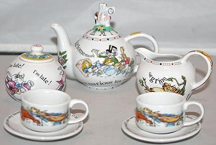 Amazoncom Alice In Wonderland Miniature Childrens Tea Set By