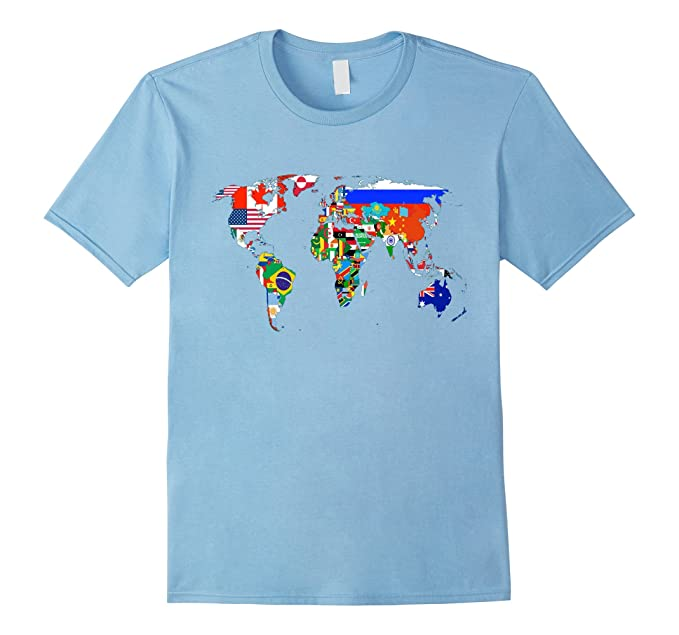 Amazon world map country flag atlas t shirt clothing mens world map country flag atlas t shirt 2xl baby blue gumiabroncs Choice Image