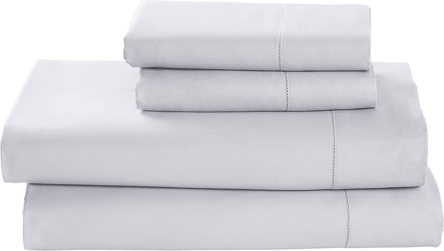 Amazon Brand – Stone & Beam 100% Supima Cotton Bed Sheet Set, Soft and Easy Care, Queen, Cloud