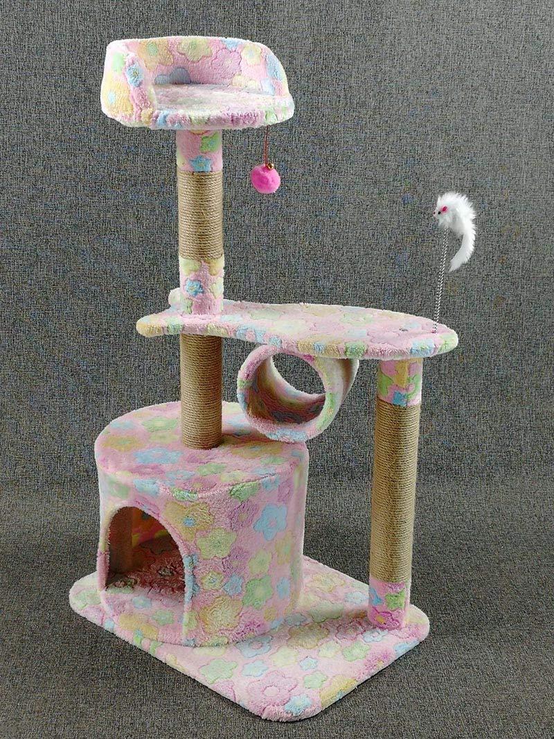 D AosyGFR Pet Cat Climbing Frame Cat Toy Cat Scratch Board Jumping Platform Cat House Cat Tree
