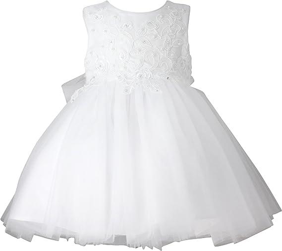 Boutique Magique Robe De Bapteme Bebe Fille Blanche Robe Ceremonie Bebe Amazon Fr Vetements Et Accessoires