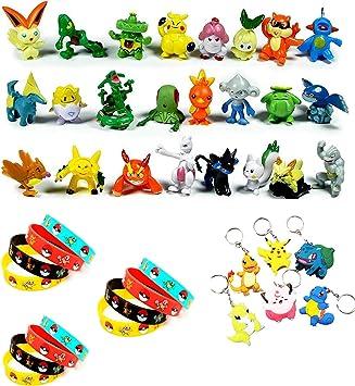 Funnyshow 42 Piezas Pokemon Figuras Pack, 24 Monster Mini Figuras ...