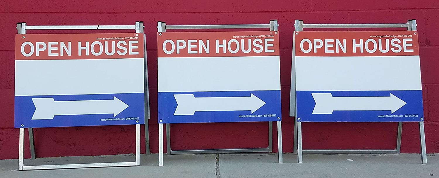 Amazon.com: EZee Post Open House Signs - Juego de 3 letreros ...