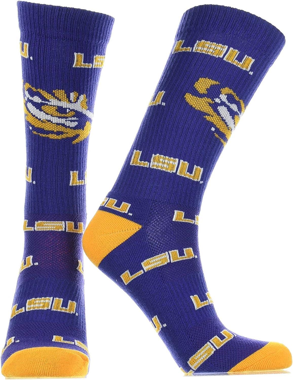 LSU Tigers Socks Crew Length Sock Mayhem