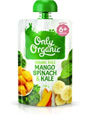 Only Organic Mango Spinach & Kale  6+ Months - 120g