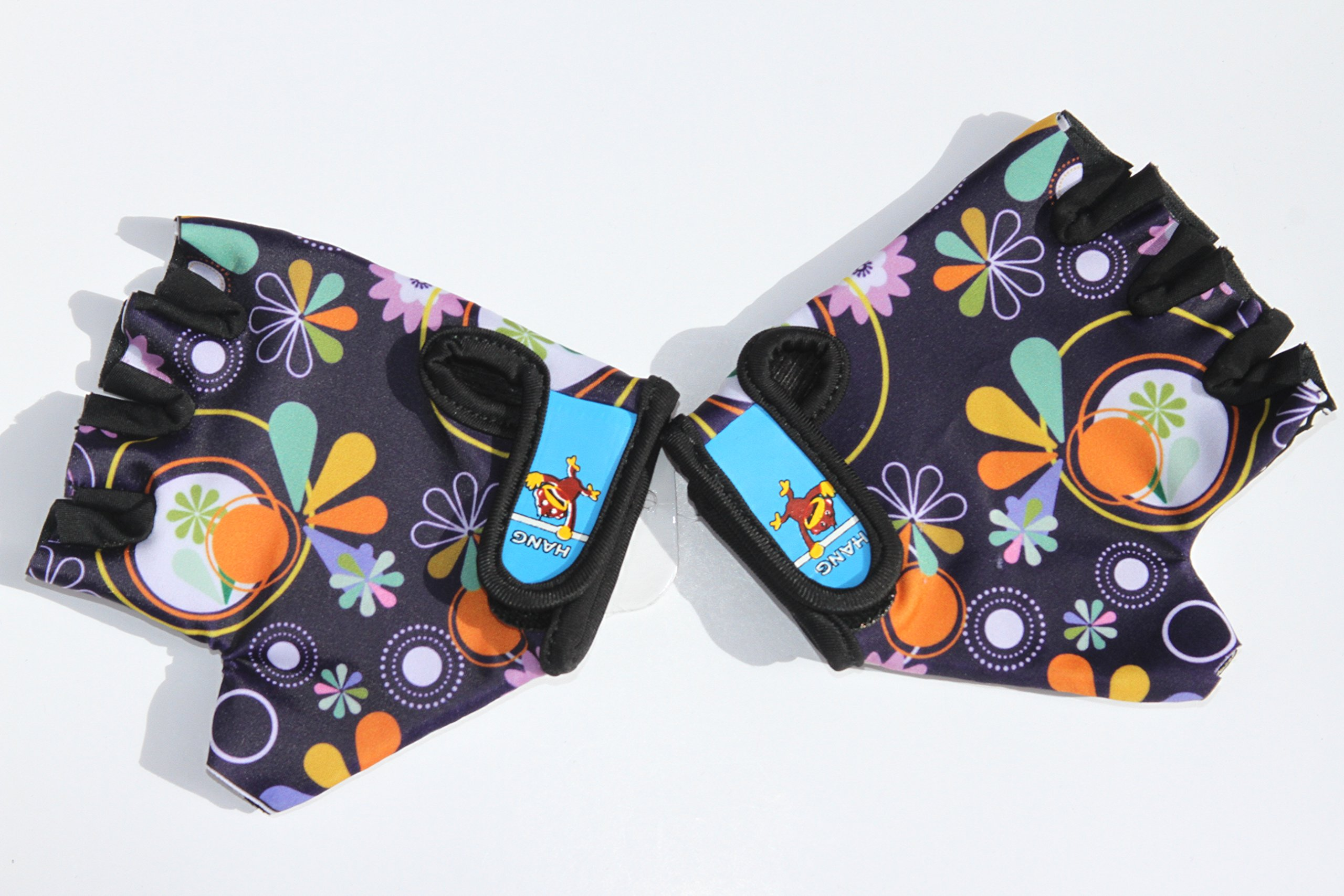 HANG Monkey Bars Gloves With Grip Control (Flowers) For children 5 and 6 years old by HANG (Image #1)