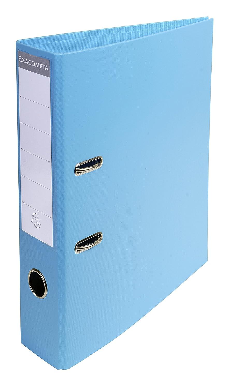 Exacompta Prem Touch Pvc Lever Arch File 70mm Spine 2 Ring Light Blue