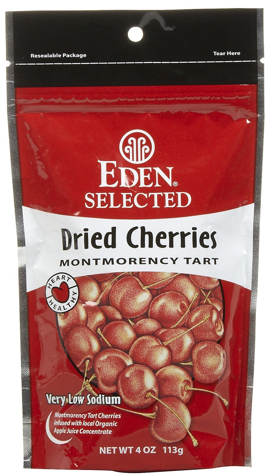Eden Organic Dried Montmorency Cherries, 4 oz Pouches