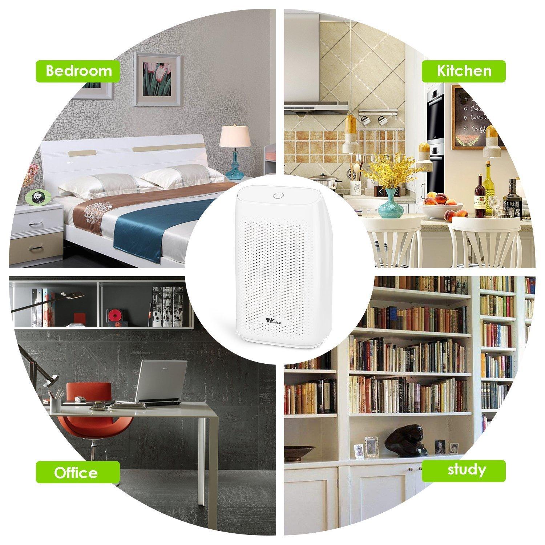 amzdeal Dehumidifier Small Dehumidifier for Bedroom Bathroom Basement 215 sq ft Smart Dehumidifier Quiet Portable 700ml Capacity and Auto Off to Remove Damp, Mold, Moisture