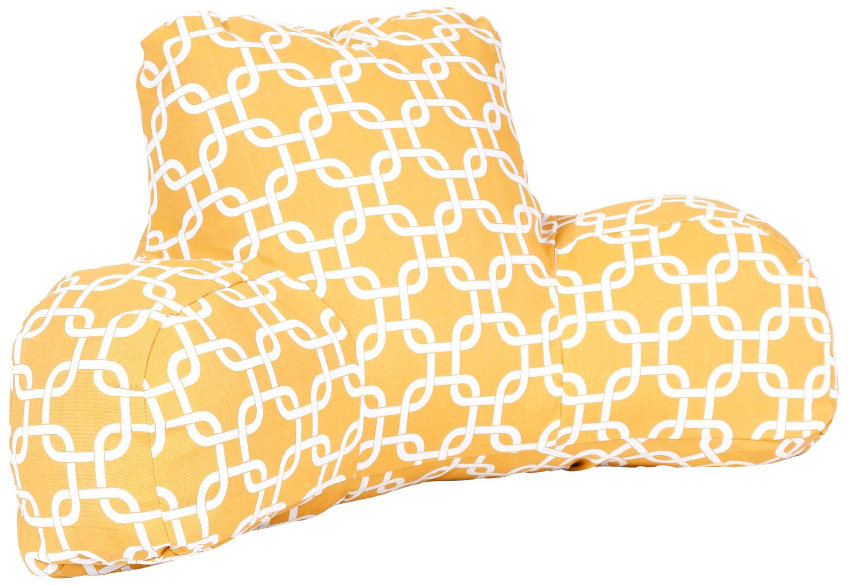 Majestic Home Goods Links Reading Pillow, Yellow