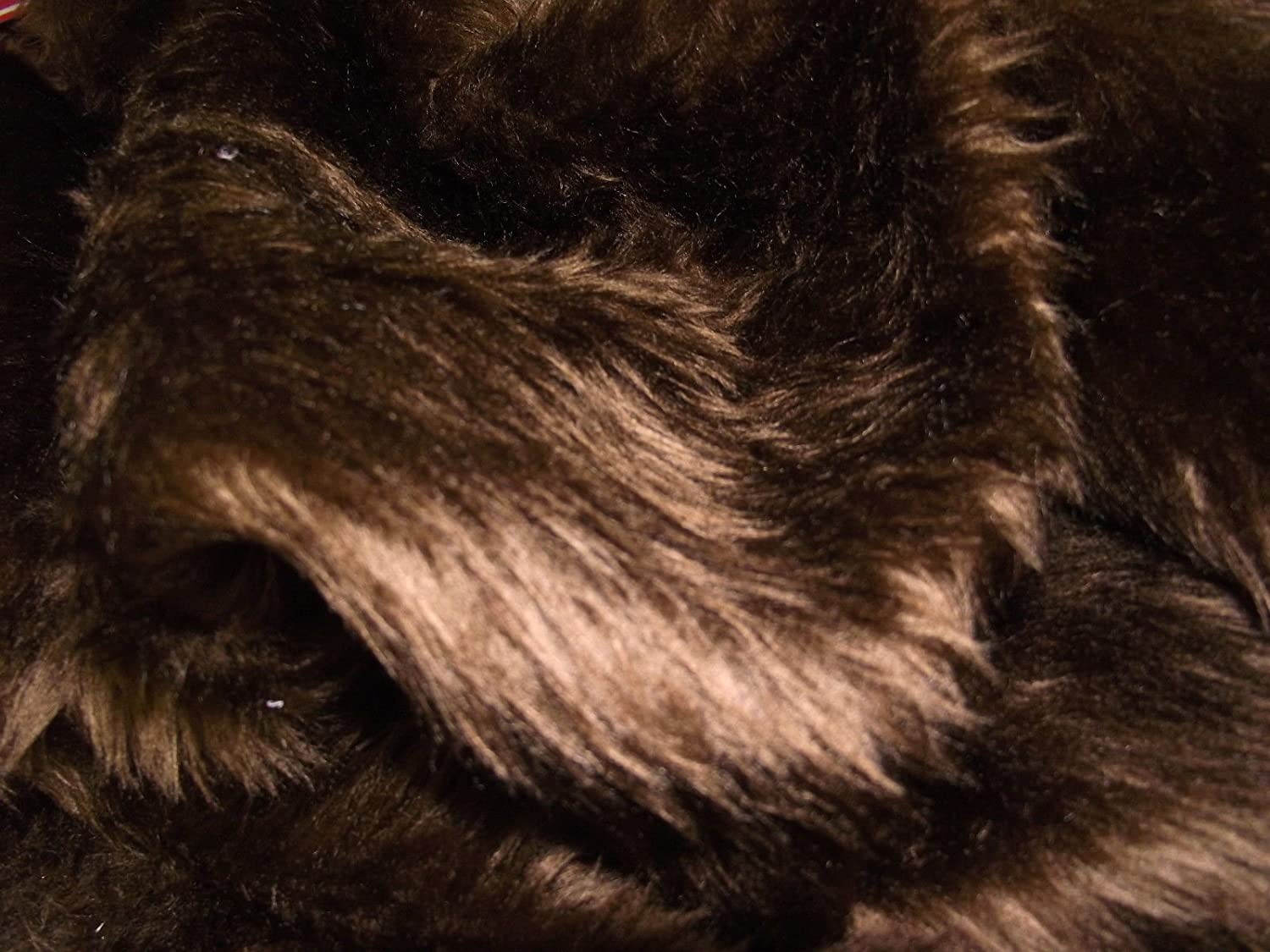 Plain Fun Faux Fur Fabric Material DK BROWN MALT CRS Fur Fabrics