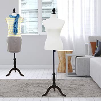 HOMCOM Vidaxl - Maniquí con Busto de señora para Costura para diseñar Ropa, Espuma de