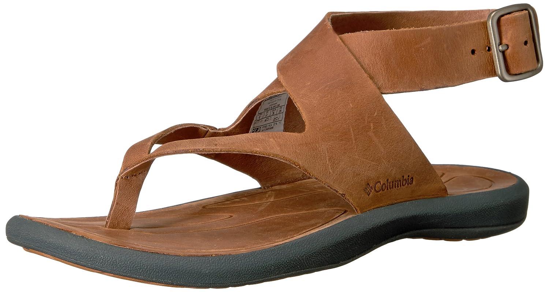 Columbia Women's Caprizee Nubuck Sandal B01HEI2TDG 5 B(M) US|Elk, Dark Grey