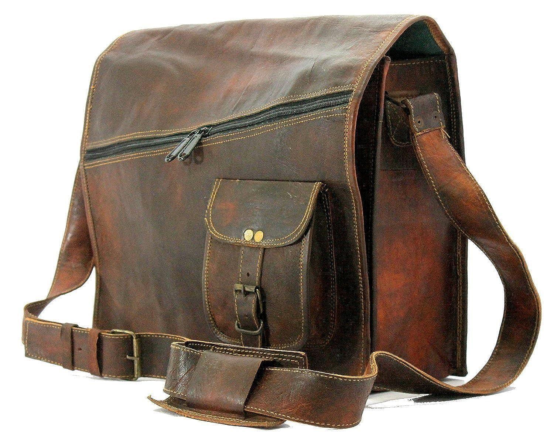 Krishna Leather メンズ US サイズ: 11 X 15 X 4 カラー: ブラウン B07624N8N3