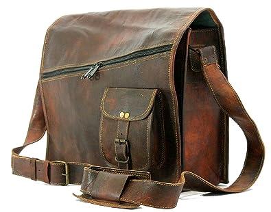 0db820bf4f Image Unavailable. Image not available for. Color: Handmade craft Krishna Leather  Mens satchel vintage leather messenger bag brown shoulder Bag Laptop Bag