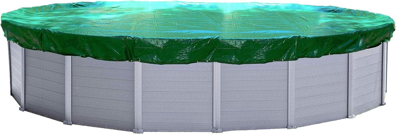 QUICK STAR Cubierta de piscina de invierno oval 180g / m² para piscina 625x360cm Dimensiones de lona 705x440cm Verde