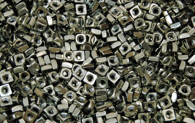 850 Zinc Plated 1//4-20 Square Nut Coarse Thread