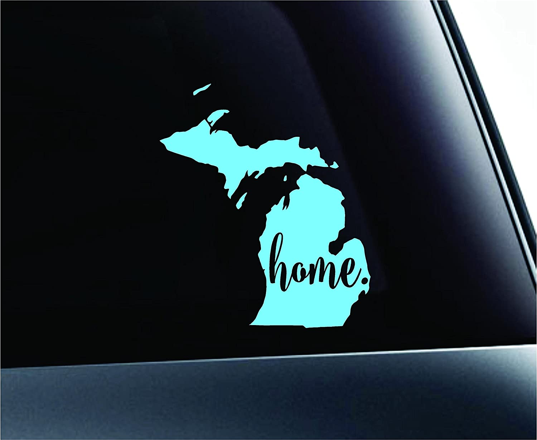 #3 Home Michigan State Lansing Symbol Sticker Decal Car Truck Window Computer Laptop (Mint)