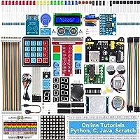 SunFounder Raspberry Pi Starter Kit for Raspberry Pi 4B 3 B+ 400, 491-Page Online Tutorials, Python C Java Scratch Code…