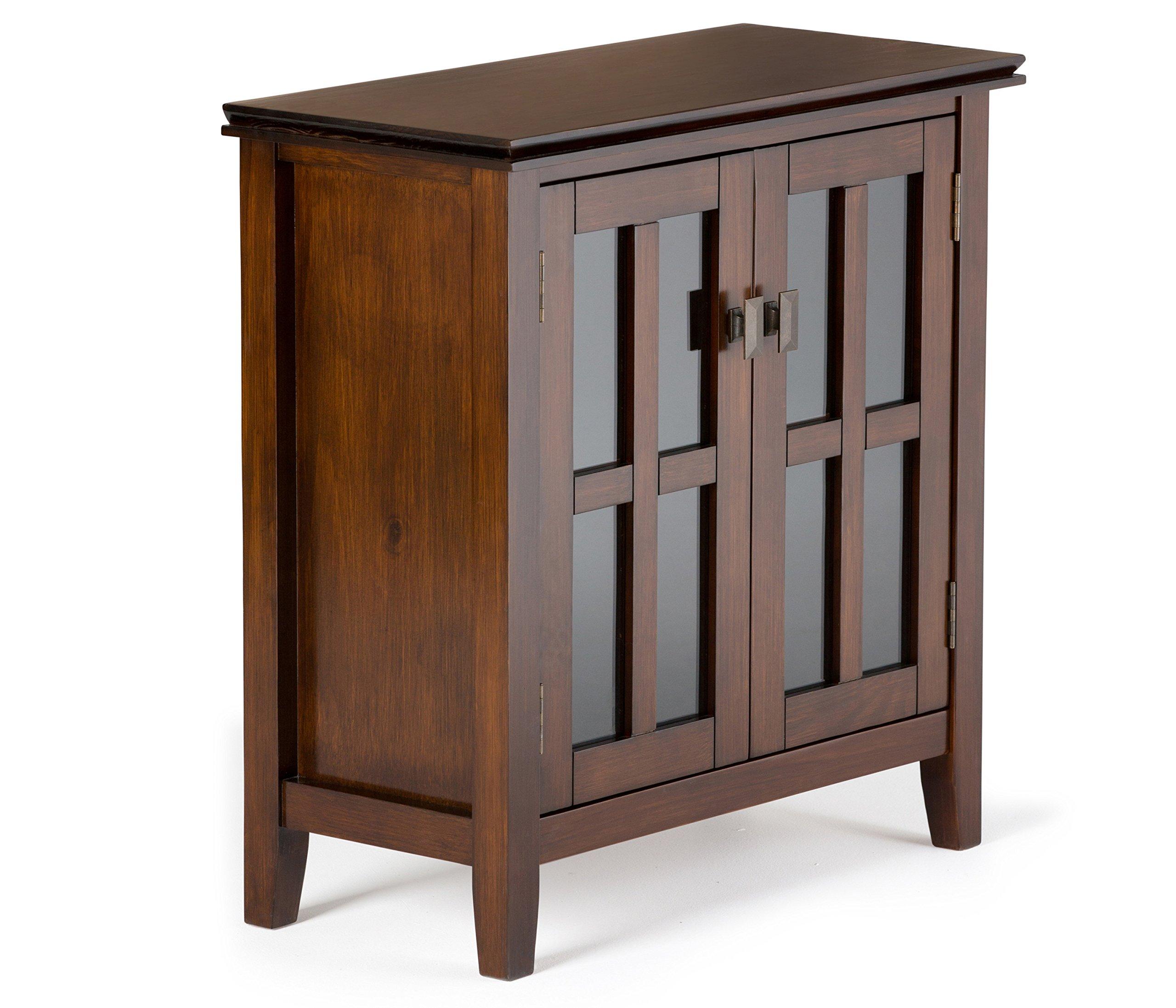 Simpli Home Artisan Solid Wood Low Storage Cabinet, Medium Auburn Brown by Simpli Home (Image #1)