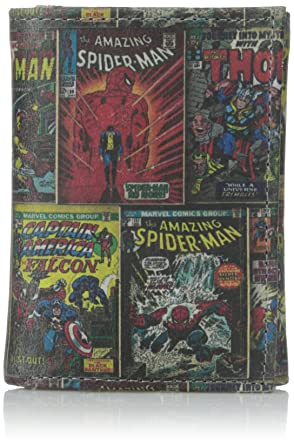 marvel comics genuine leather character trifold wallet w gift box multi character