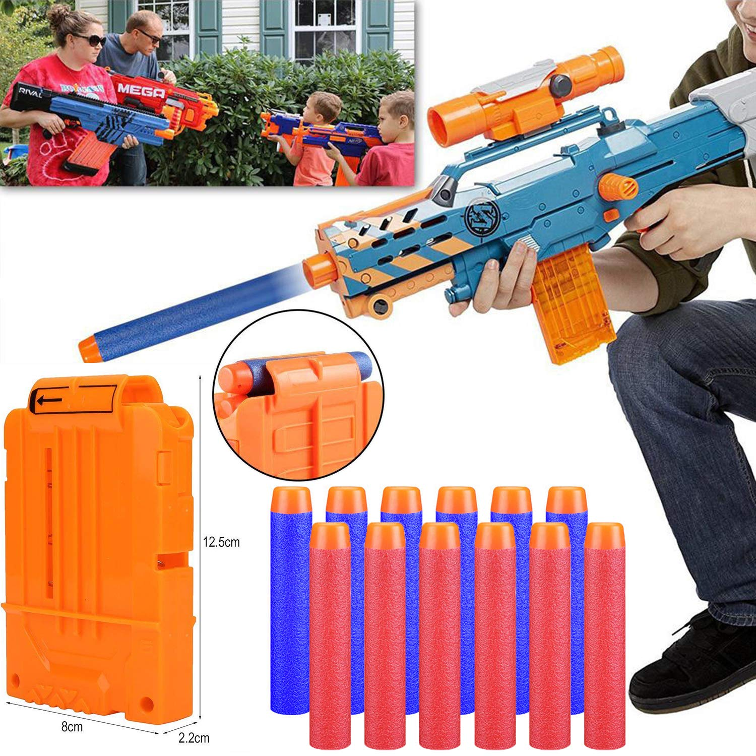2 Reload Clips 2 Wrist Band and 2 Glasses Gift Wrapped ShineMore 2 Pack Kids Tactical Vest Kit for Nerf Guns N-Strike Elite Series with 80Pcs Refill Darts 2 Tactical Mask
