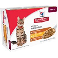 Hill's Science Diet Adult Savory Entrée Variety Pack, Canned Cat Food, 5.5 oz, 12 Pack