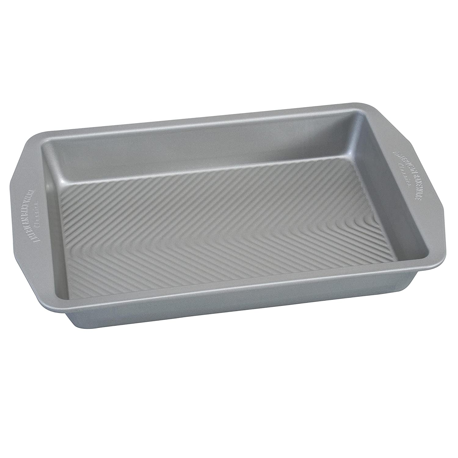 USA Pan 1140LF-2-ABC American Bakeware Classics 1 Pound Loaf Baking Pan, Aluminized Steel