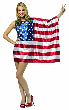 3b40d868784 Amazon.com  Rasta Imposta Flag USA Dress Red White Blue