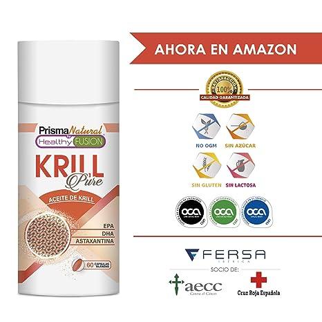 ACEITE DE KRILL PURO + EPA + DHA + ASTAXANTINA - Mejora y controla el colesterol y ...
