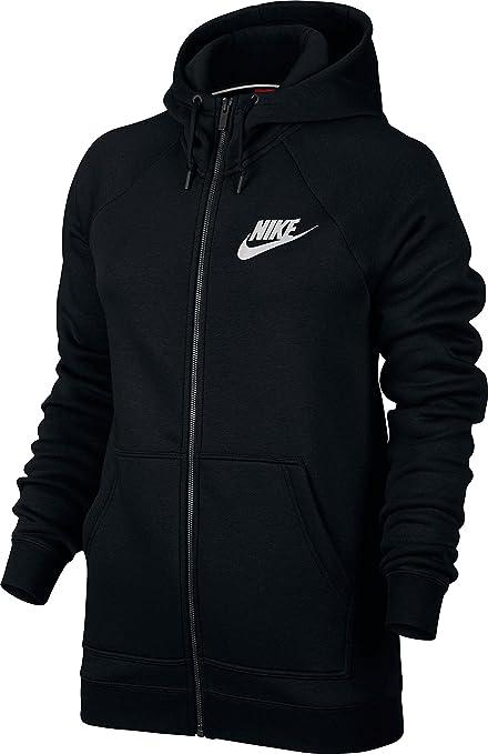Nike Rally Full Zip Veste à Capuche Femme, BlackBlackWhite